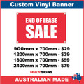 END OF LEASE SALE - CUSTOM VINYL BANNER SIGN