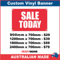 SALE TODAY - CUSTOM VINYL BANNER SIGN