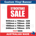 STOCKTAKE SALE - CUSTOM VINYL BANNER SIGN