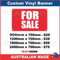 FOR SALE - CUSTOM VINYL BANNER SIGN