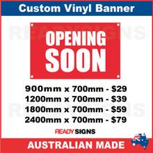 OPENING SOON CUSTOM VINYL BANNER SIGN Australian Made - Custom vinyl sign