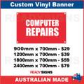 COMPUTER REPAIRS - CUSTOM VINYL BANNER SIGN