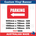 (ARROW) PARKING - CUSTOM VINYL BANNER SIGN
