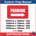PARKING (ARROW) - CUSTOM VINYL BANNER SIGN