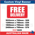 FREE DELIVERY - CUSTOM VINYL BANNER SIGN