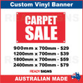 CARPET SALE - CUSTOM VINYL BANNER SIGN