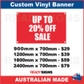 UP TO 20% OFF SALE - CUSTOM VINYL BANNER SIGN