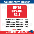 UP TO 30% OFF SALE - CUSTOM VINYL BANNER SIGN