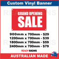 GRAND OPENING SALE  - CUSTOM VINYL BANNER SIGN