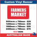FARMERS MARKET  - CUSTOM VINYL BANNER SIGN