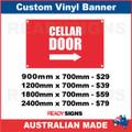CELLAR DOOR (ARROW) - CUSTOM VINYL BANNER SIGN