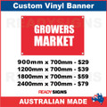 GROWERS MARKET - CUSTOM VINYL BANNER SIGN
