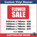 FLOWER SALE - CUSTOM VINYL BANNER SIGN