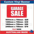 GARAGE SALE - CUSTOM VINYL BANNER SIGN