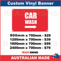 CAR WASH ( ARROW ) - CUSTOM VINYL BANNER SIGN