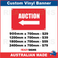 (ARROW) AUCTION - CUSTOM VINYL BANNER SIGN