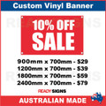 10% OFF SALE - CUSTOM VINYL BANNER SIGN