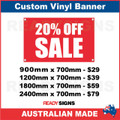 20% OFF SALE - CUSTOM VINYL BANNER SIGN