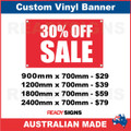 30% OFF SALE - CUSTOM VINYL BANNER SIGN