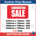 LIQUIDATION SALE - CUSTOM VINYL BANNER SIGN