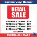 RETAIL SALE - CUSTOM VINYL BANNER SIGN