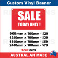 SALE TODAY ONLY ! - CUSTOM VINYL BANNER SIGN