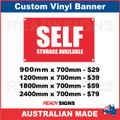 SELF STORAGE AVAILABLE - CUSTOM VINYL BANNER SIGN