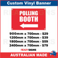 ( ARROW )  POLLING BOTH  - CUSTOM VINYL BANNER SIGN
