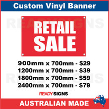 RETAIL SALE ( ARROW ) - CUSTOM VINYL BANNER SIGN