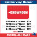 ( ARROW )  SHOWROOM - CUSTOM VINYL BANNER SIGN