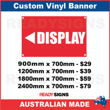 ( ARROW )  DISPLAY - CUSTOM VINYL BANNER SIGN