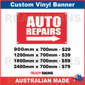 AUTO REPAIRS ( ARROW )  - CUSTOM VINYL BANNER SIGN