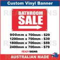 BATHROOM SALE ( ARROW )  - CUSTOM VINYL BANNER SIGN