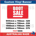 BOOT SALE ( ARROW )  - CUSTOM VINYL BANNER SIGN