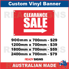 CLEARANCE SALE ( ARROW ) - CUSTOM VINYL BANNER SIGN