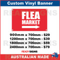 FLEA MARKET ( ARROW )  - CUSTOM VINYL BANNER SIGN