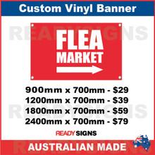 FLEA MARKET ( ARROW )  - CUSTOM VINYL BANNER SIGN
