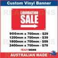 LIQUIDATION SALE ( ARROW )  - CUSTOM VINYL BANNER SIGN