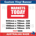 MARKETS TODAY ( ARROW )  - CUSTOM VINYL BANNER SIGN