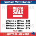 MASSIVE SALE ( ARROW )  - CUSTOM VINYL BANNER SIGN