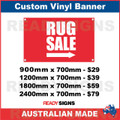 RUG SALE ( ARROW ) - CUSTOM VINYL BANNER SIGN