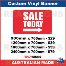 SALE TODAY ( ARROW ) - CUSTOM VINYL BANNER SIGN