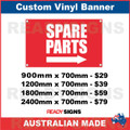 SPARE PARTS ( ARROW ) - CUSTOM VINYL BANNER SIGN