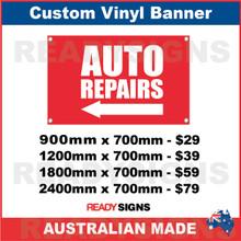 ( ARROW )  AUTO REPAIRS - CUSTOM VINYL BANNER SIGN