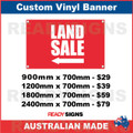 ( ARROW )  LAND SALE - CUSTOM VINYL BANNER SIGN