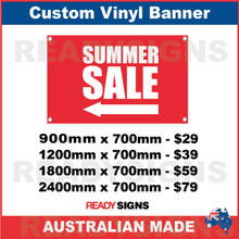 ( ARROW )  SUMMER SALE - CUSTOM VINYL BANNER SIGN