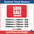 ( ARROW )  SOFA SALE - CUSTOM VINYL BANNER SIGN