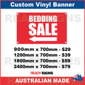 ( ARROW )  BEDDING SALE - CUSTOM VINYL BANNER SIGN
