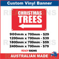 ( ARROW )  CHRISTMAS TREES - CUSTOM VINYL BANNER SIGN