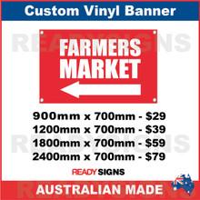 ( ARROW )  FARMERS MARKET  - CUSTOM VINYL BANNER SIGN